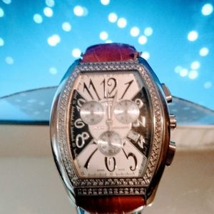 Elini Barokas Jumbo Diamond New Yorker Chronograph